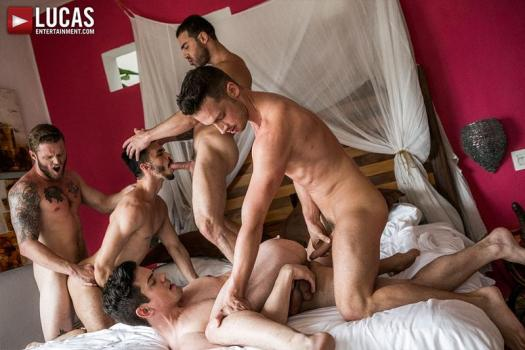 LE – Shawn, Carlos, Aaden, Damon, Dakota – Bareback Five-Way