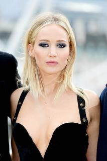 Jennifer Lawrence  Black Dress  Red 1