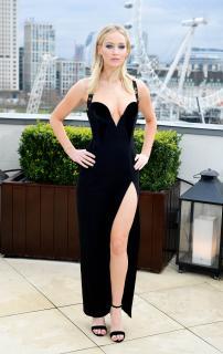 Jennifer Lawrence  Black Dress  Red 3