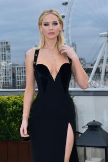 Jennifer Lawrence  Black Dress  Red 5