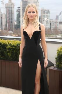 Jennifer Lawrence  Black Dress  Red 6