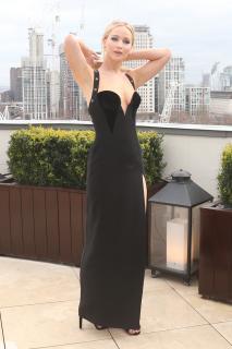 Jennifer Lawrence  Black Dress  Red 8