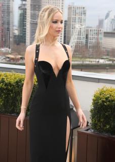 Jennifer Lawrence  Black Dress  Red 9