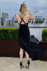 Jennifer Lawrence  Black Dress  Red 38