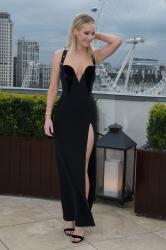 Jennifer Lawrence  Black Dress  Red 50
