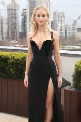 Jennifer Lawrence  Black Dress  Red 68