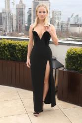 Jennifer Lawrence  Black Dress  Red 72