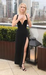 Jennifer Lawrence  Black Dress  Red 88