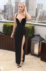 Jennifer Lawrence  Black Dress  Red 90