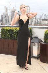 Jennifer Lawrence  Black Dress  Red 95