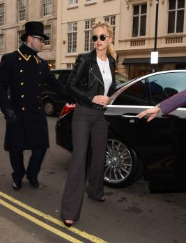 Jennifer Lawrence at her hotel in London 2