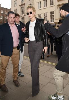Jennifer Lawrence at her hotel in London 16
