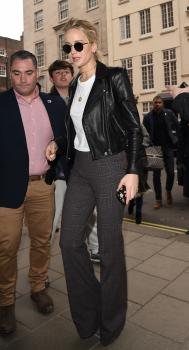 Jennifer Lawrence at her hotel in London 18