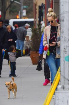 Jennifer Lawrence walking her dog in NYC 1