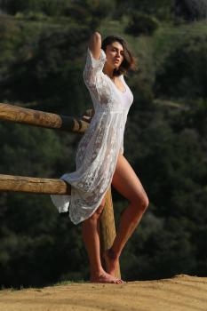 Aurelie Malta  sheer white body suit, 1