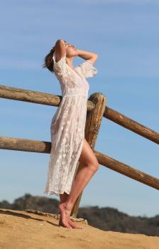 Aurelie Malta  sheer white body suit, 23