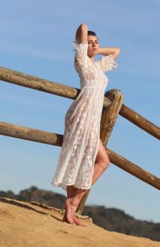 Aurelie Malta  sheer white body suit, 24