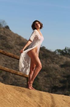Aurelie Malta  sheer white body suit, 26