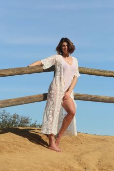 Aurelie Malta  sheer white body suit, 28