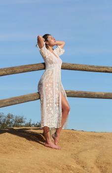 Aurelie Malta  sheer white body suit, 29