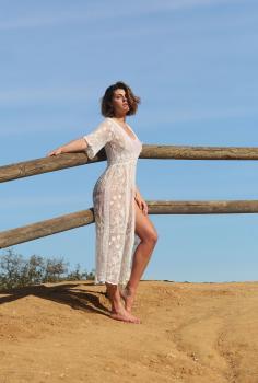 Aurelie Malta  sheer white body suit, 30