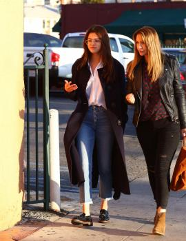 Selena Gomez at Ernie s Mexican Restaurant in North Hollywood 2/28/18