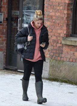 Gemma Atkinson leaves Key 103 Radio Station in Manchester 2/28/18