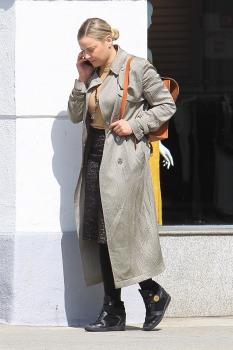 Abbie Cornish on her phone in Beverly 2