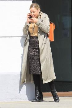Abbie Cornish on her phone in Beverly 15