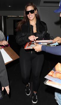 Ashley Graham arrives in LA 3/12/18 3