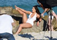 Ashley Graham  Models bikinis on a 40
