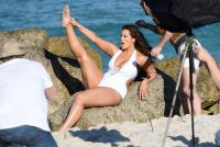 Ashley Graham  Models bikinis on a 41