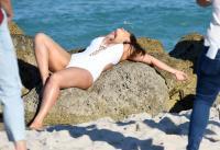 Ashley Graham  Models bikinis on a 57