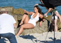 Ashley Graham  Models bikinis on a 65