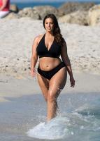 Ashley Graham  Models bikinis on a 130