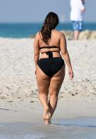 Ashley Graham  Models bikinis on a 140