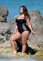Ashley Graham  Models bikinis on a 150