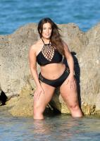 Ashley Graham  Models bikinis on a 166